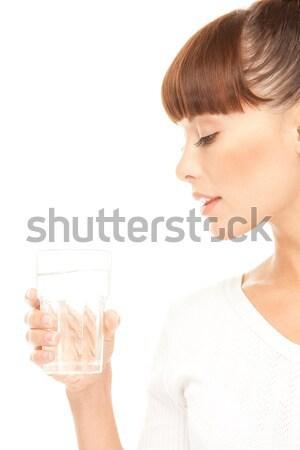 ダイヤモンド 肖像 女性 ビッグ 顔 石 ストックフォト © dolgachov