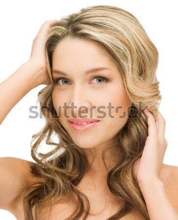 Piękna topless kobieta jasne zdjęcie Zdjęcia stock © dolgachov