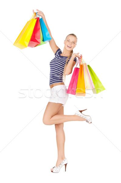 Vrouw foto vrouwelijke persoon glimlachend Stockfoto © dolgachov