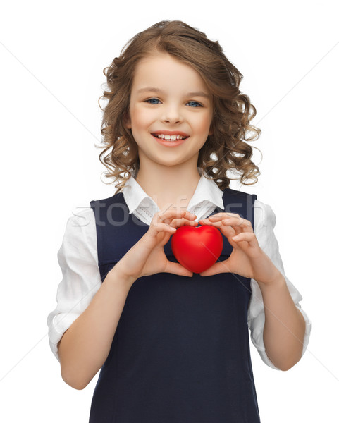 girl with small heart Stock photo © dolgachov