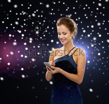 Mulher vestido de noite luxo vip vida noturna festa Foto stock © dolgachov
