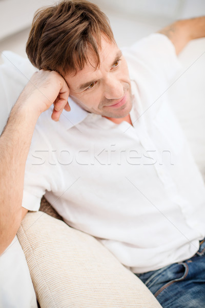 middle-aged man at home Stock photo © dolgachov