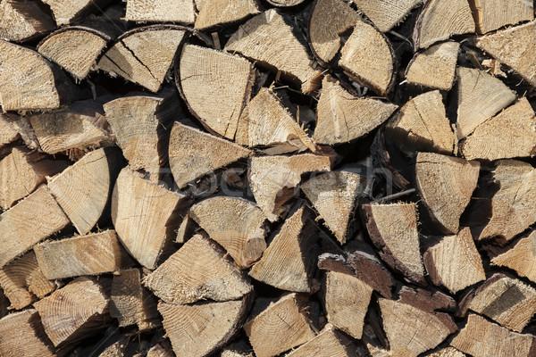 Egymásra pakolva tűzifa textúra fa fal természet Stock fotó © dolgachov