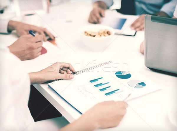 üzleti csapat megbeszélés iroda iskola oktatás üzlet Stock fotó © dolgachov