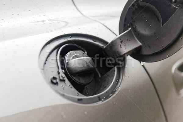 close up of car open fuel tank Stock photo © dolgachov