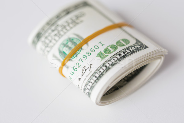 Dollar geld rubber business financieren Stockfoto © dolgachov