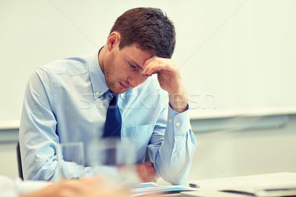businessman having problem in office Stock photo © dolgachov