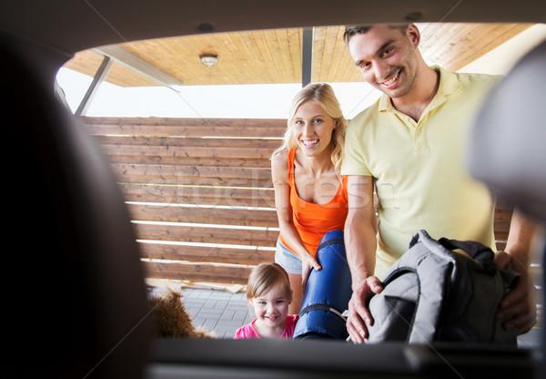 幸せな家族 物事 車 ホーム 駐車場 ストックフォト © dolgachov