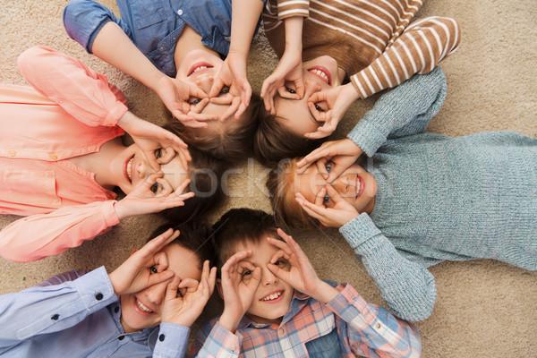 Mutlu çocuklar yüzler çocukluk Stok fotoğraf © dolgachov