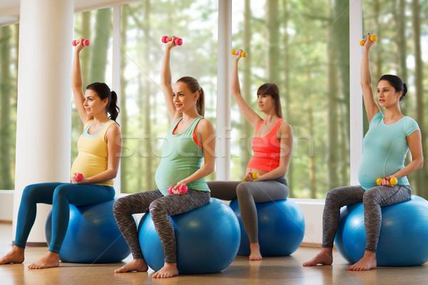 Упражнение для беременных в спортзале 52