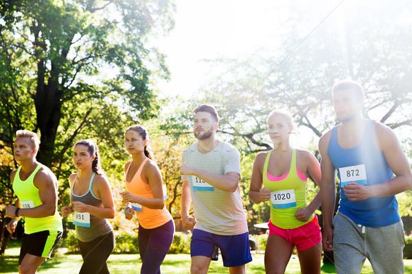 Знак номера начала гонка фитнес спорт Сток-фото © dolgachov