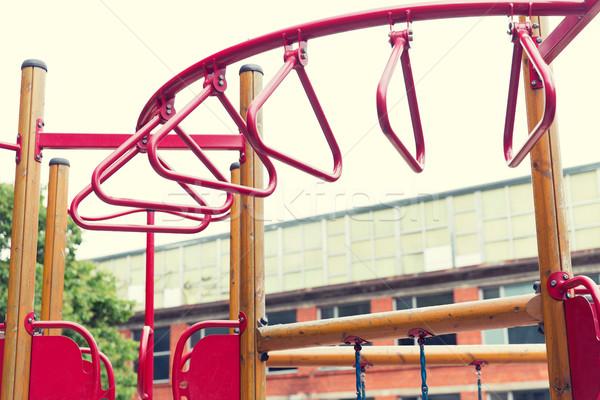 Wspinaczki ramki boisko lata dzieciństwo sportu Zdjęcia stock © dolgachov