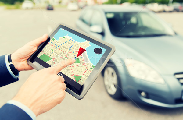 Mani GPS auto trasporto Foto d'archivio © dolgachov