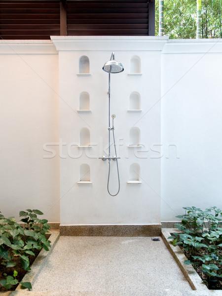 outdoor shower at exotic hotel Stock photo © dolgachov