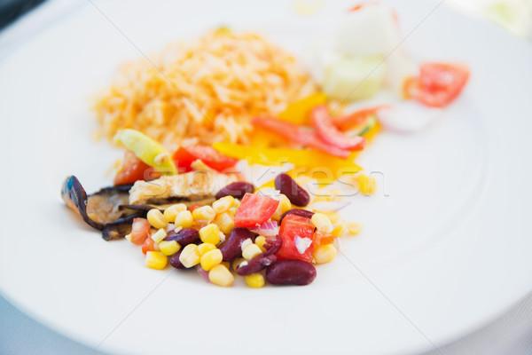 vegetable salad on plate Stock photo © dolgachov