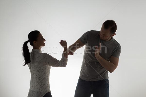 Сток-фото: сердиться · пару · борьбе · люди · злоупотребление