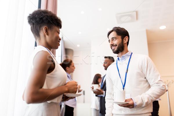 Pessoas de negócios conferência café negócio comunicação Foto stock © dolgachov