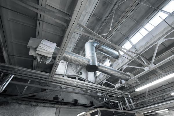 Ventilação pipes fábrica compras indústria produção Foto stock © dolgachov