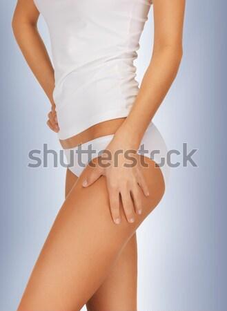 healthy back in white panties Stock photo © dolgachov