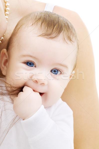 Foto stock: Bebé · brillante · Foto · adorable · nino · blanco