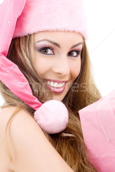 счастливым помощник шкатулке фотография лице Сток-фото © dolgachov