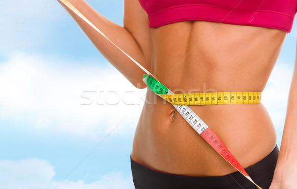 ストックフォト: 腹 · 巻き尺 · スポーツ · フィットネス