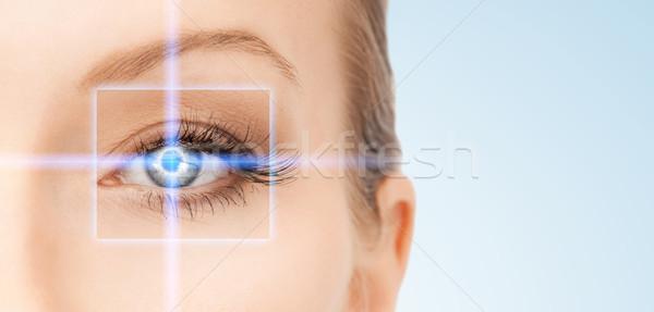美人 ポインティング 眼 画像 女性 顔 ストックフォト © dolgachov