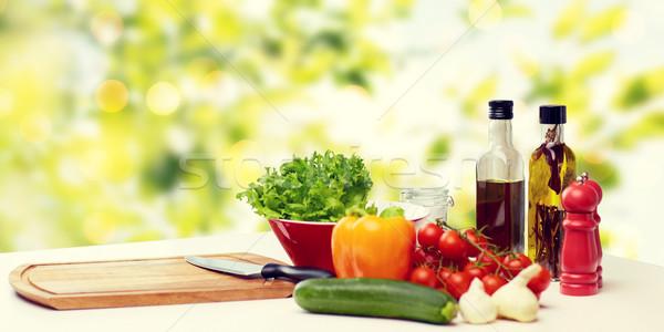 野菜 スパイス 台所用品 表 料理 静物 ストックフォト © dolgachov