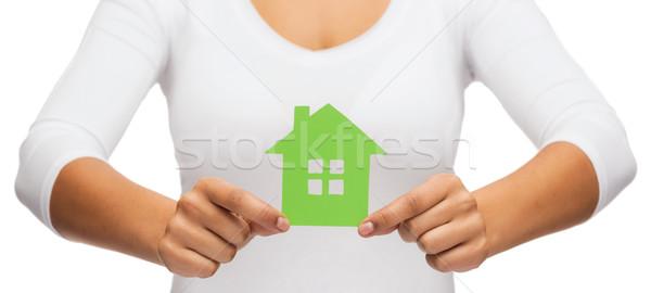 женщину рук теплица недвижимости Эко Сток-фото © dolgachov