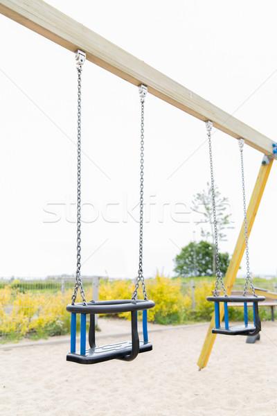 ребенка Swing площадка улице детство оборудование Сток-фото © dolgachov