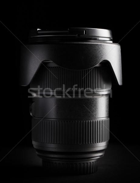 Közelkép kameralencse fotózás tárgy művészet film Stock fotó © dolgachov