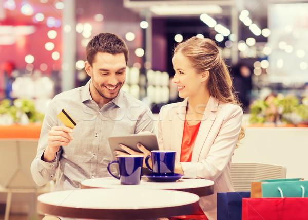 пару кредитных карт Mall продажи торговых Сток-фото © dolgachov