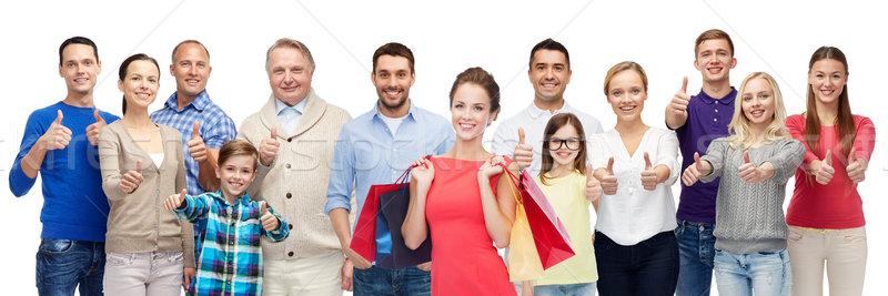 Сток-фото: счастливые · люди · жест · продажи