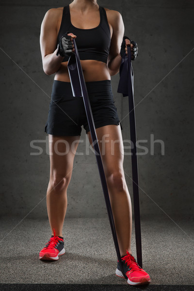 Mulher ginásio fitness esportes Foto stock © dolgachov