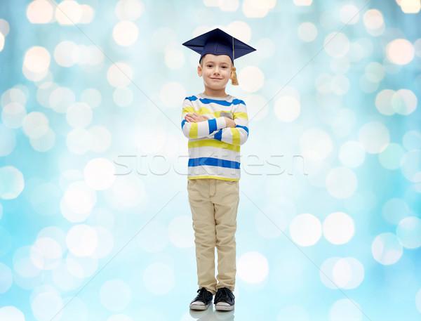 Soltero sombrero infancia escuela educación Foto stock © dolgachov