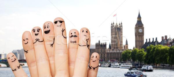 Stockfoto: Vingers · gezichten · Londen · reizen