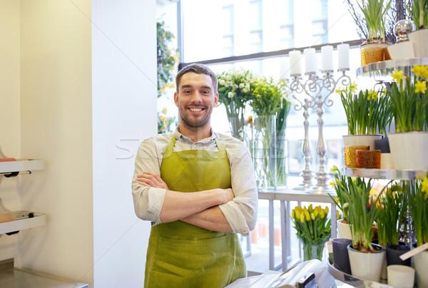 флорист человека продавец борьбе люди Сток-фото © dolgachov