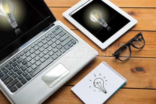 Laptop notebook istruzione business Foto d'archivio © dolgachov