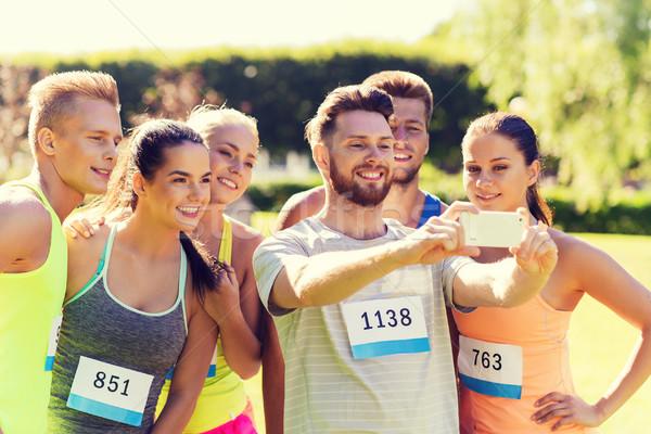 Zdjęcia stock: Smartphone · fitness · sportu · przyjaźni