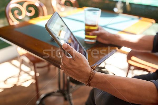 человека пива Паб люди Сток-фото © dolgachov