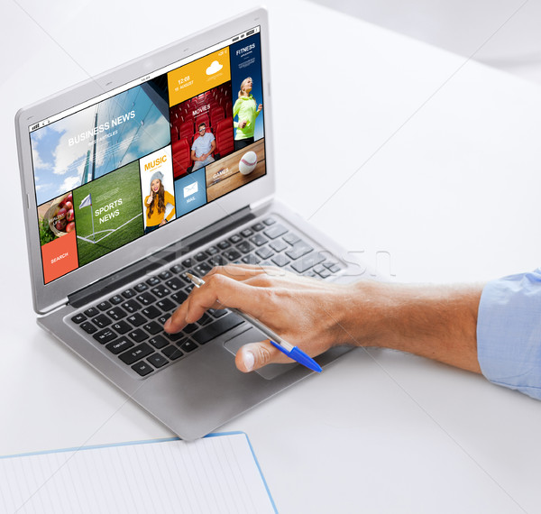 Imprenditore computer portatile lavoro ufficio business tecnologia Foto d'archivio © dolgachov