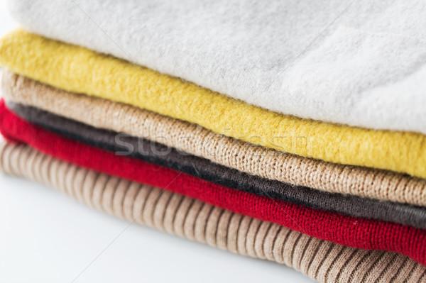 Trykotowy ubrania pranie odzież Zdjęcia stock © dolgachov