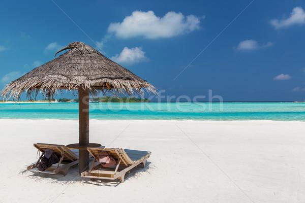 Maldivas praia viajar turismo férias verão Foto stock © dolgachov