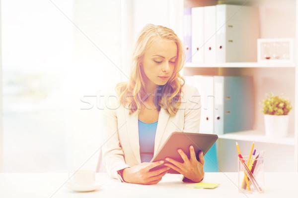 Empresária estudante escritório negócio educação Foto stock © dolgachov