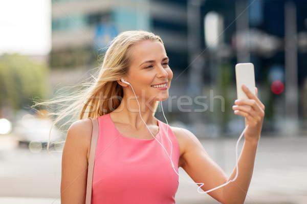счастливым смартфон технологий жизни Сток-фото © dolgachov