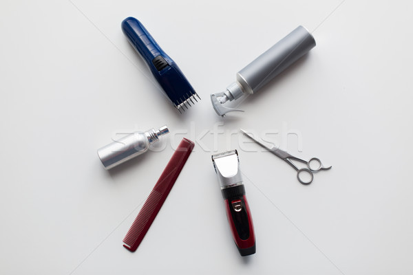 styling hair sprays, clippers, comb and scissors Stock photo © dolgachov