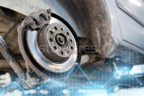 Auto freno disco riparazione stazione auto Foto d'archivio © dolgachov