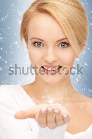 woman with bath ball Stock photo © dolgachov