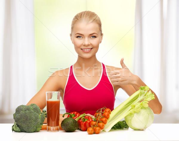 女性 自然食品 若い女性 少女 ストックフォト © dolgachov