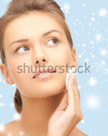Mujer hermosa perla pendientes pulsera belleza joyería Foto stock © dolgachov